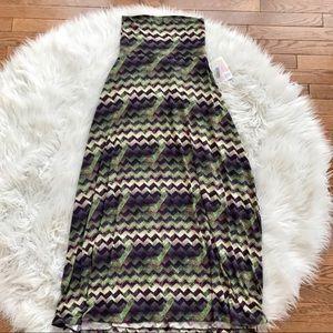 • LulaRoe • Maxi Skirt Chevron Print XXS New